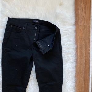 "J.Crew Black 10"" High Rise Skinny Jeans  Size 30"